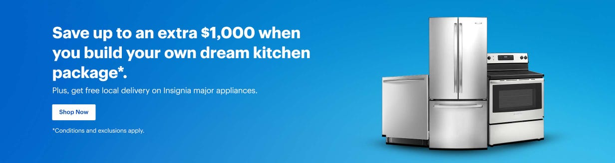 Save up to an extra $1,000 when you build your own dream kitchen package*.